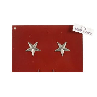 2 Stars General Military Jeep License Plate