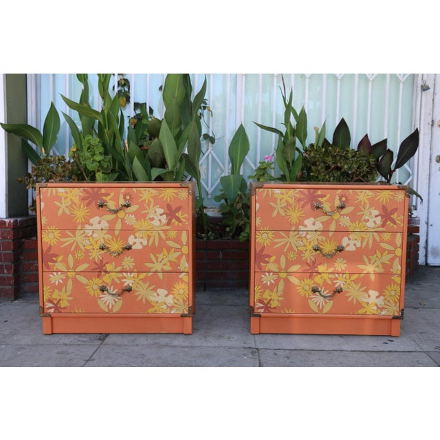 Retro Pair of Drexel Chests of Drawers For Sale - Image 10 of 10