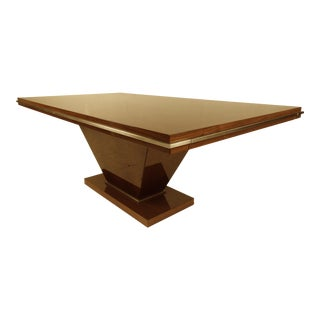 Impressive Italian Dining Table by Excelsior For Sale