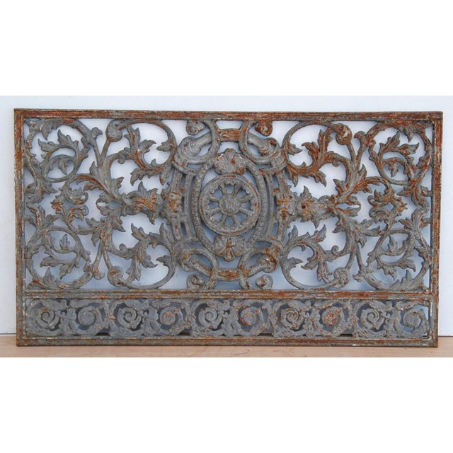 Antique 19th C. French Iron Architectural Panel - Image 2 of 11