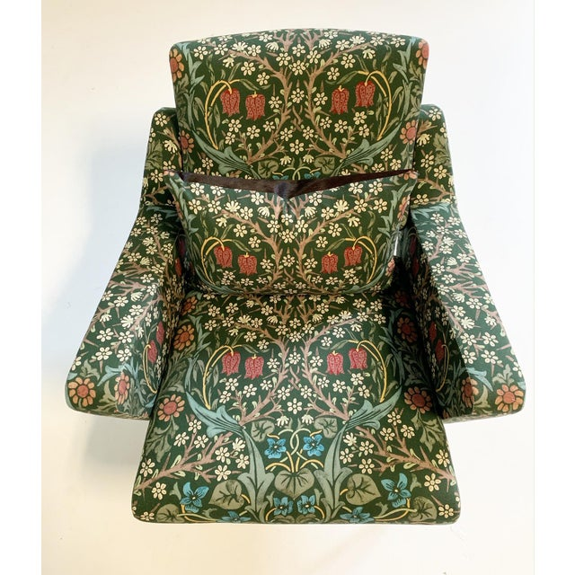 C. 1955 French Lounge Chairs in William Morris Blackthorn, Pair For Sale - Image 10 of 12