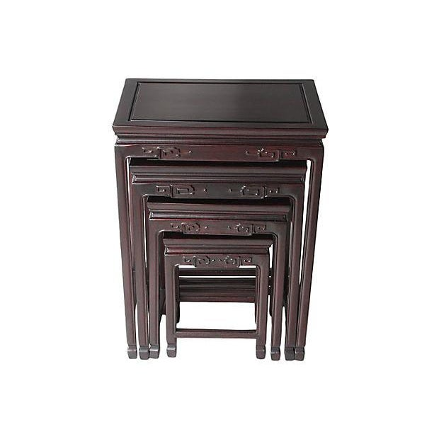Chinese Rosewood Nesting Tables - Set of 4 - Image 2 of 5