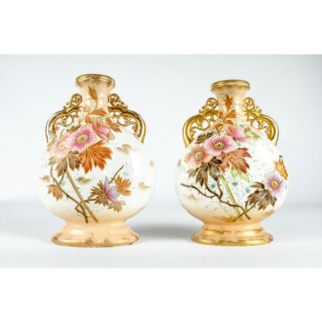 Gold Antique Pair German Porcelain Pieces For Sale - Image 8 of 8