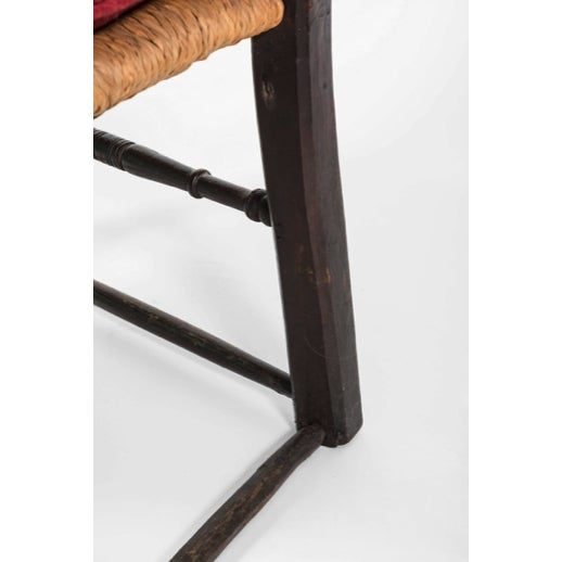 18th Century Vintage English Oak Bannister Armchair For Sale - Image 4 of 11