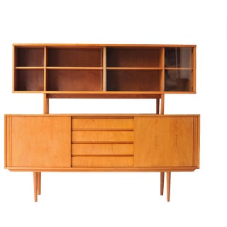 1950s Mid Century Modern Teak Bar Cabinet For Sale