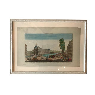 18th Century Vue D'0ptique Hand-Colored Engraving For Sale