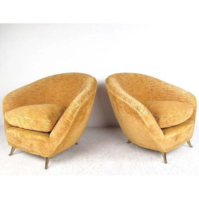 Marco Zanuso Style Lounge Chairs - a Pair For Sale - Image 10 of 10