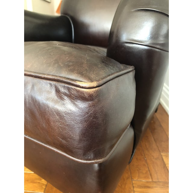 George Smith Standard Arm Signature Chair in Leather For Sale - Image 9 of 10