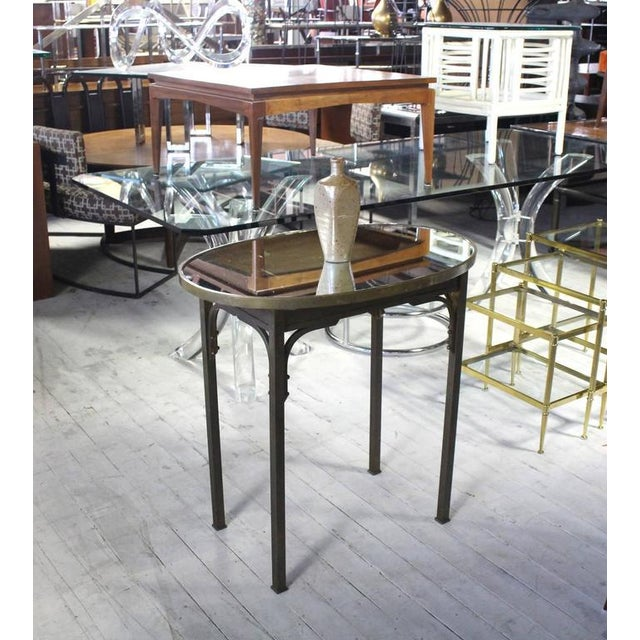 Very nice and handy Mid-Century Modern solid brass hall, console or pedestal table.