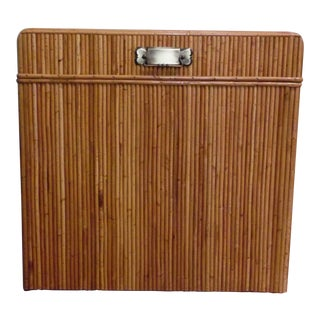 20th Century Regency Pencil Reed Trunk For Sale