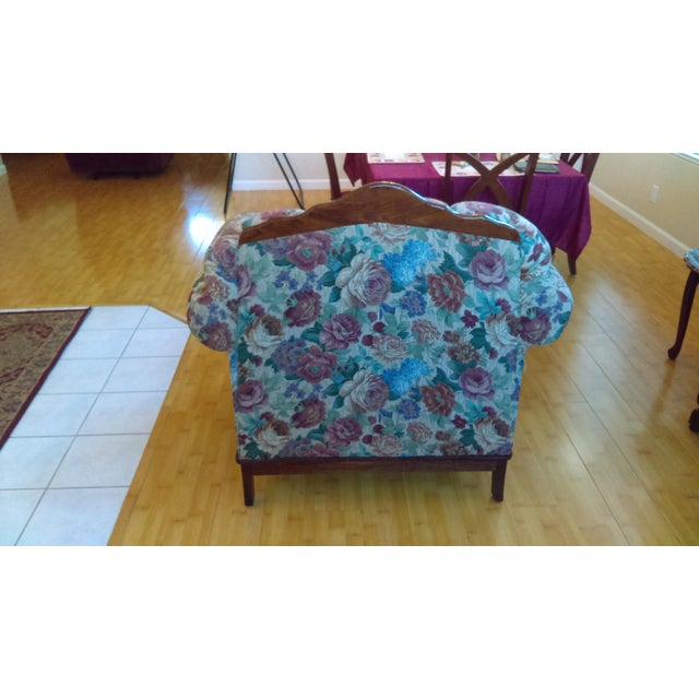 Country Traditional Floral Upholstered Club Chair For Sale - Image 3 of 5