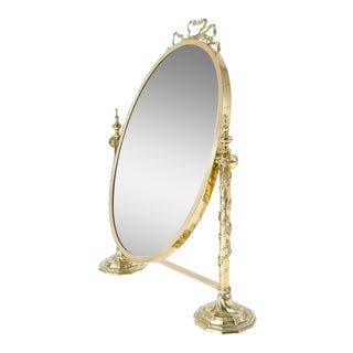 Italian Style Glass Vanity Mirror For Sale