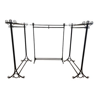 Hand-Forged Wrought Iron Garment Racks - Set of 3 For Sale