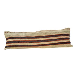 Vintage Woven Kilim Pillow Cover For Sale