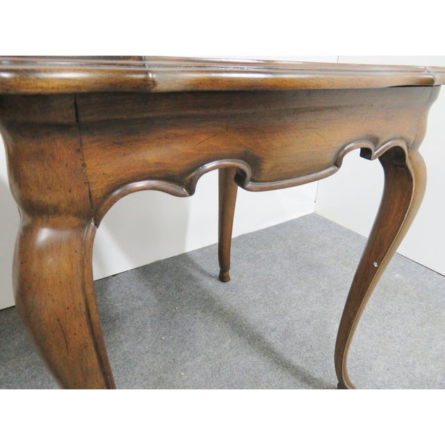 Mid 20th Century French Style Walnut Side Tables - a Pair For Sale - Image 5 of 6