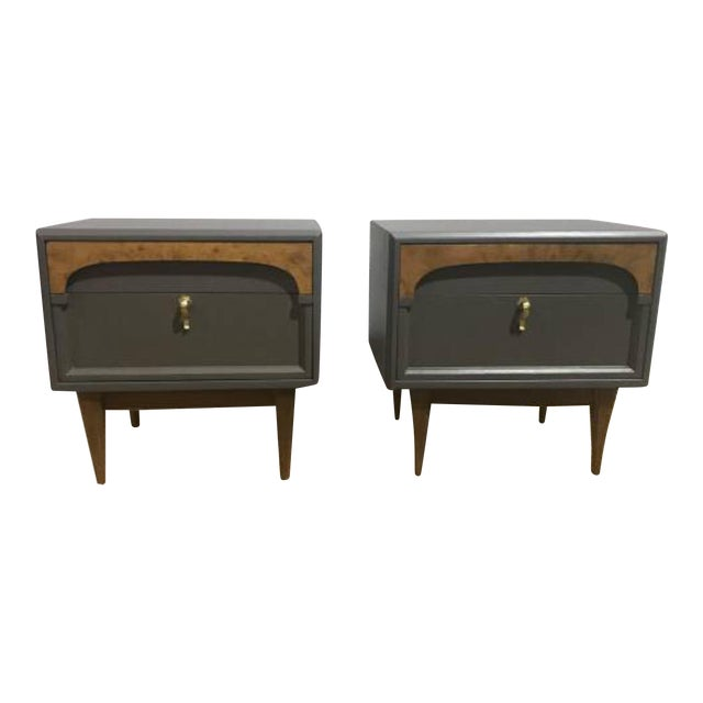 Gray American of Martinsville Nightstands - A Pair - Image 1 of 4