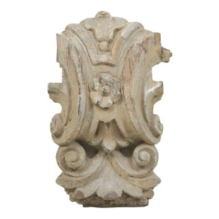 Antique Italian Carved Decorative Architectural Element or Fragment For Sale