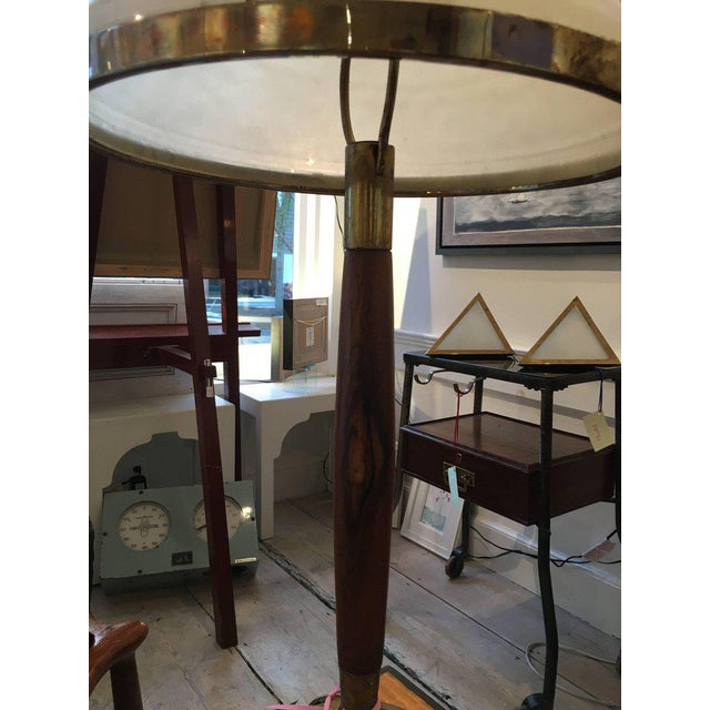 1950s Mid-Century Modern Teak and Brass Table Lamp For Sale - Image 5 of 6