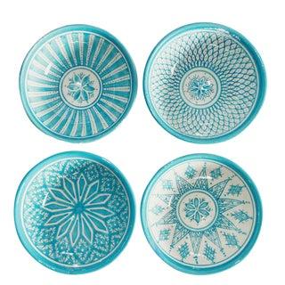 Safi Salad Bowl, Set of 4 Turquoise For Sale