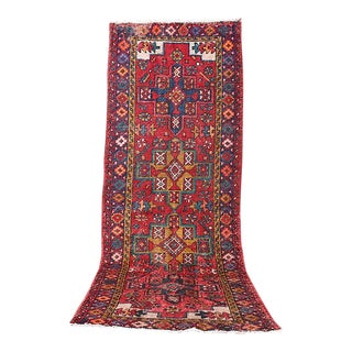 3 Day Sale!!! 1960's Vintage Boho Chic Moroccan Tribal Runner Area Rug - 8.5 Ft X 3 Ft For Sale