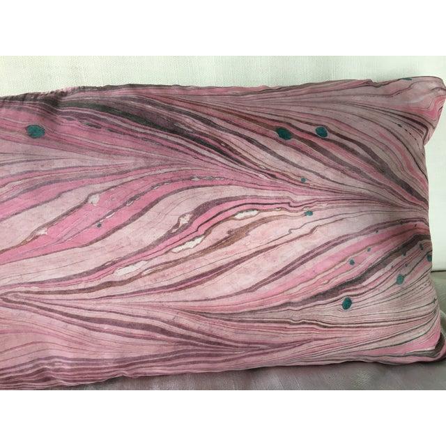 Silk Shibori Lumbar Pillow For Sale - Image 4 of 5