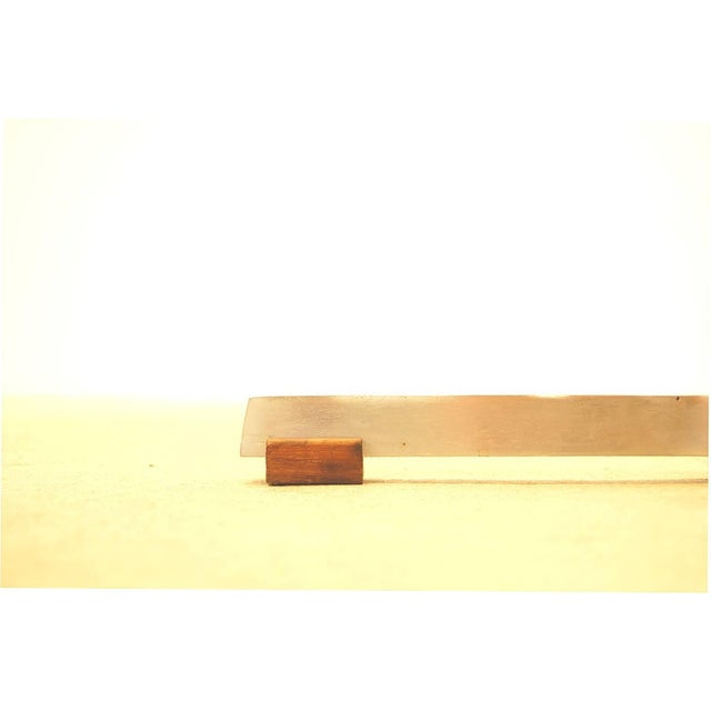 Floor Lamp in Stainless Steel and Teak by Fog & Mørup For Sale - Image 5 of 6