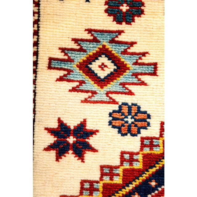 """Traditional New Traditional Hand Knotted Area Rug - 4'10"""" x 7' For Sale - Image 3 of 3"""