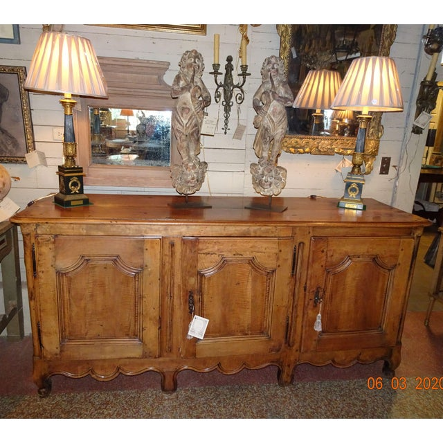 French Louis XV Walnut Enfilade For Sale - Image 12 of 13