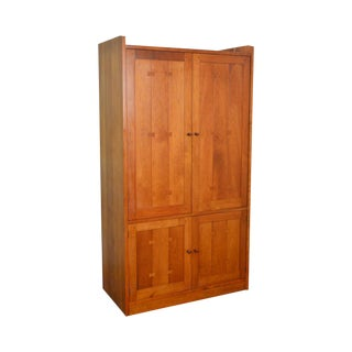 Stickley Arts & Crafts Style Solid Cherry Large Entertainment Tv Armoire Cabinet