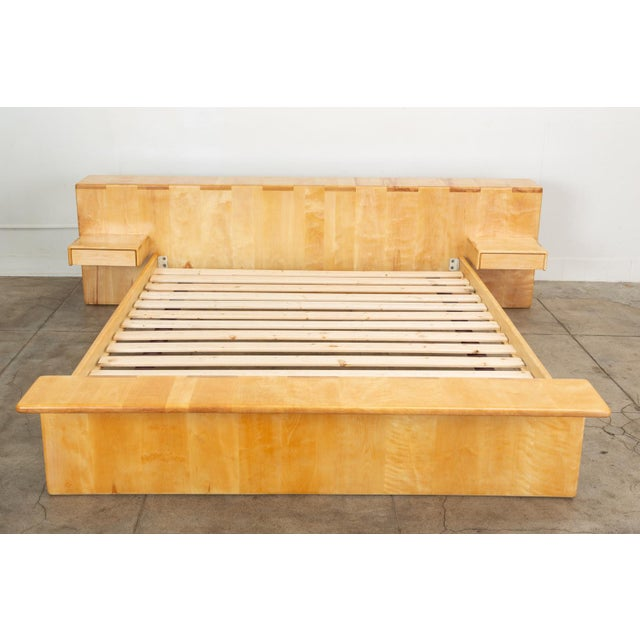 Maple Platform California King Bed With Floating Nightstands by Gerald McCabe For Sale - Image 13 of 13