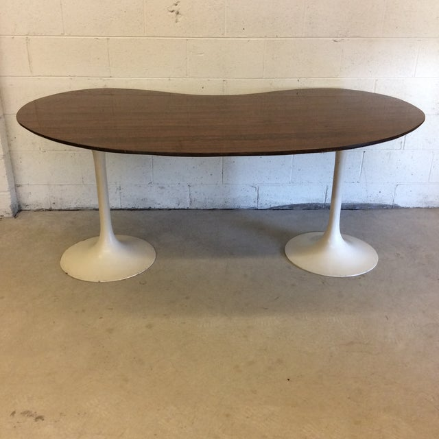 Mid Century Writing Executive Desk With Tulip Base For Sale - Image 12 of 12