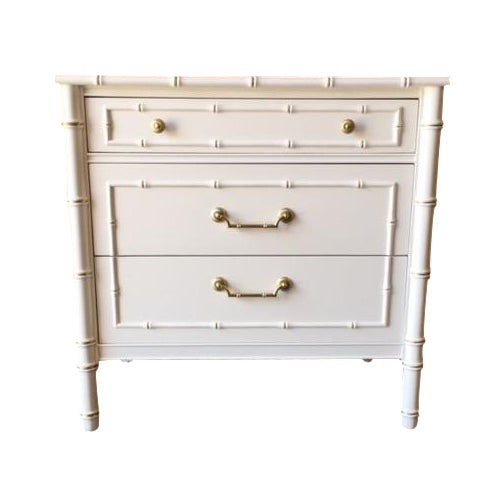 Vintage Hollywood Regency White Lacquer Dresser - Image 1 of 7