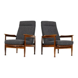 1960s Vintage Eric Pamphilon & George Fejer for Guy Rogers Danish Modern Lounge Chairs - A Pair For Sale