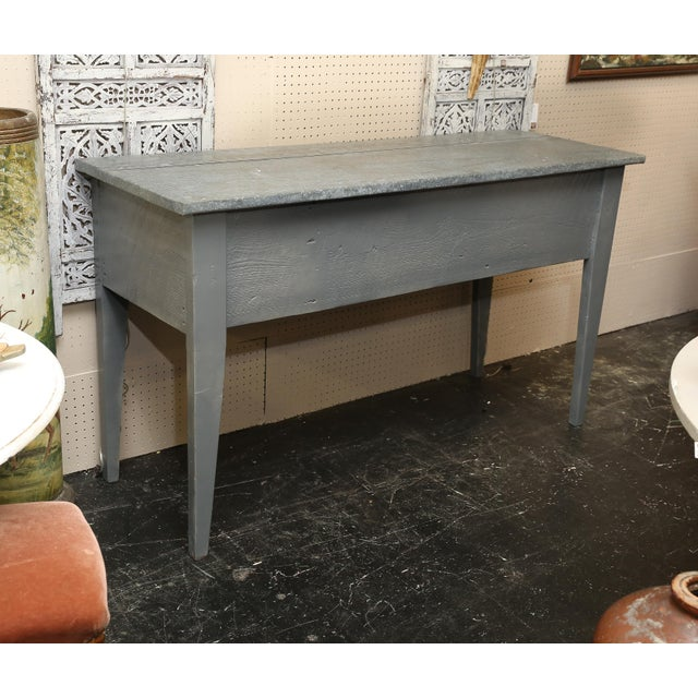 Industrial Zinc Top Console Table - Image 3 of 5