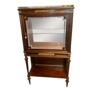 Fine Louis XVI Style Ormolu Mounted Neoclassic Vitrine For Sale