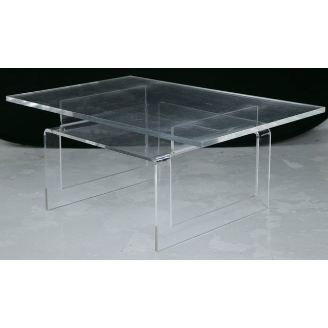 Vintage Lucite 2-Tier Coffee Table - Image 2 of 5