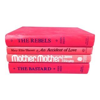 Vintage Red Book Stack - Set of 4