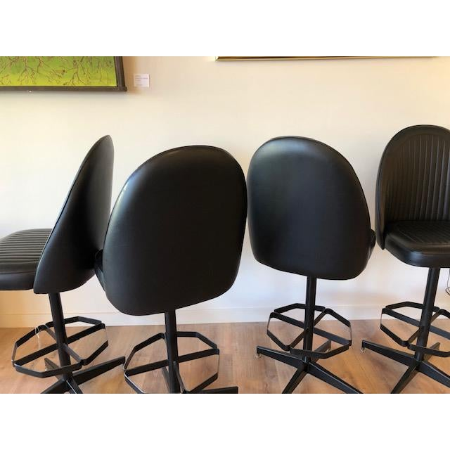 Mid-Century Modern Industrial Modern Swivel Counter Stools by Cal-Style- Set of 4 For Sale - Image 3 of 7