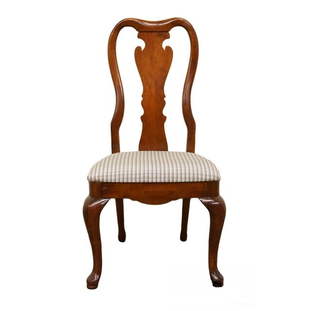 Late 20th Century Vintage Thomasville Furniture Collectors Cherry Queen Anne Style Dining Side Chair For Sale - Image 10 of 10