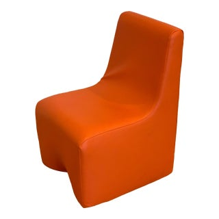 Orange Vinyl Children's Chair For Sale