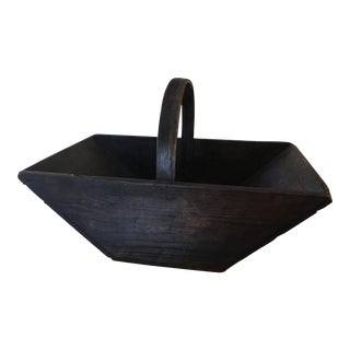 French Wooden Garden Flower Grape Trug Basket For Sale