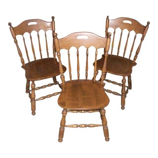 Ethan Allen Heirloom Concord Model 10-6002 Dining Chairs - Set of 3 For Sale