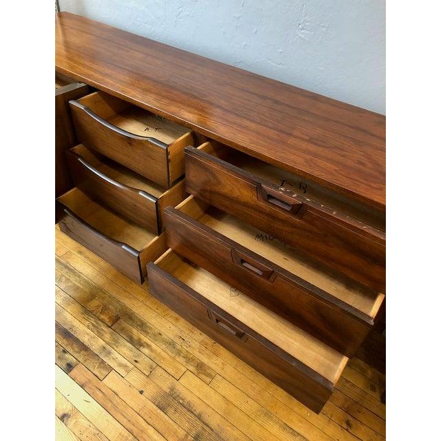 Mid Century Walnut Credenza Style Lowboy Dresser 1960's For Sale - Image 4 of 13