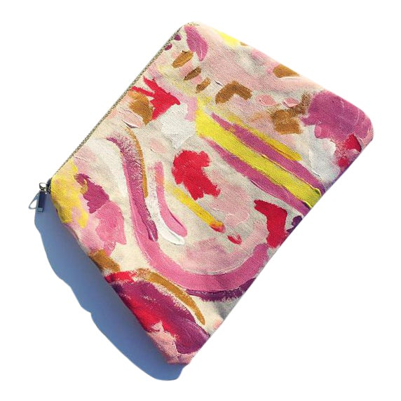 All things artistic wrapped in one beautifully-hued pouch! Perfect for art supplies, makeup, or date night. Hand painted...