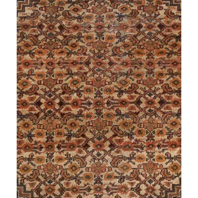 "Islamic Antique Persian Senneh Rug - 4'11"" x 6'6"" For Sale - Image 3 of 4"