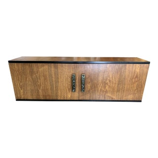 1950s Mid-Century Modern Mother of Pearl Inlaid Wooden Cupboard