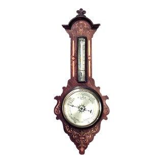 English VIctorian Rosewood Barometer