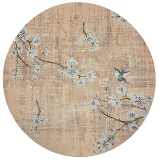 "Nicolette Mayer Blossom Fantasia Romance 16"" Round Pebble Placemats, Set of 4 For Sale"