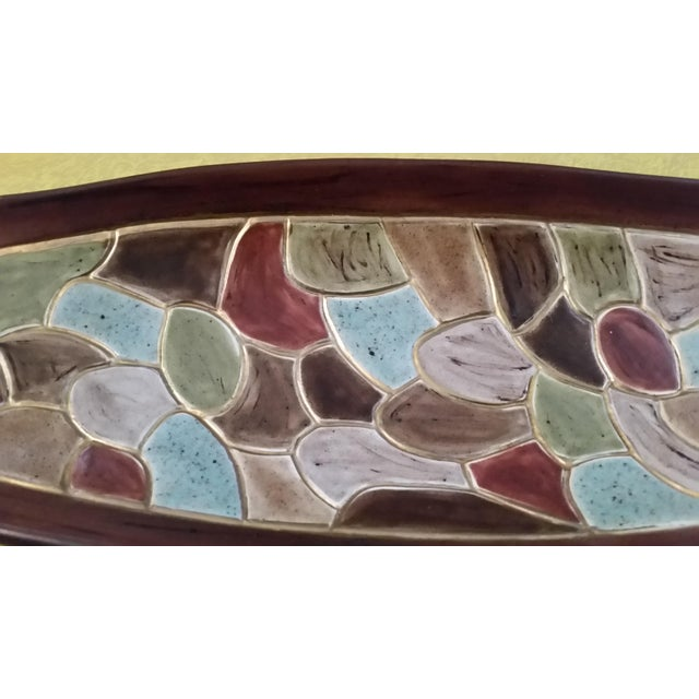1968 Studio Pottery Footed Serving Dish - Image 2 of 7
