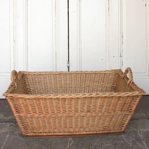 Vintage French Laundry Basket - Image 2 of 8